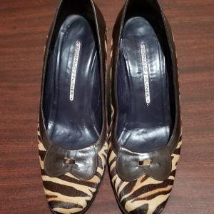Donald J Pliner wedge shoes sz 8N
